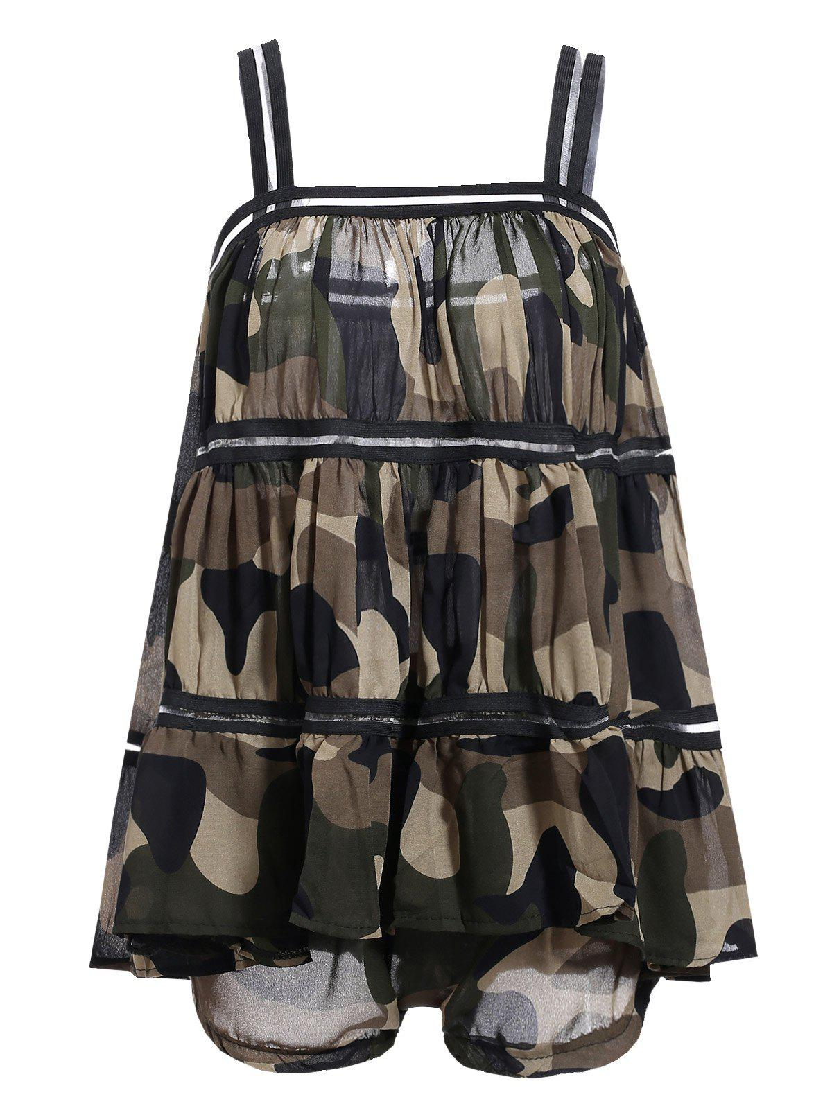 Stylish Women's Camouflage Color Loose Top + Shorts Twinset - CAMOUFLAGE ONE SIZE(FIT SIZE XS TO M)