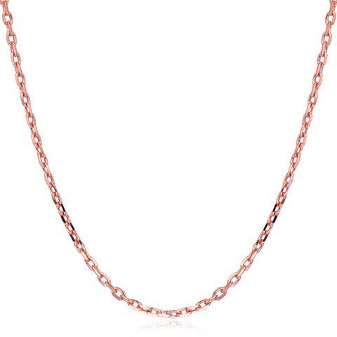 Plated Alloy Link Chain Necklace - ROSE GOLD