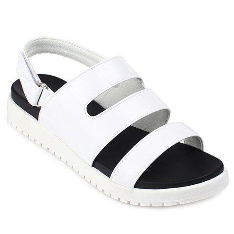 Fashion Solid Color and  Design Women's Sandals - WHITE 38