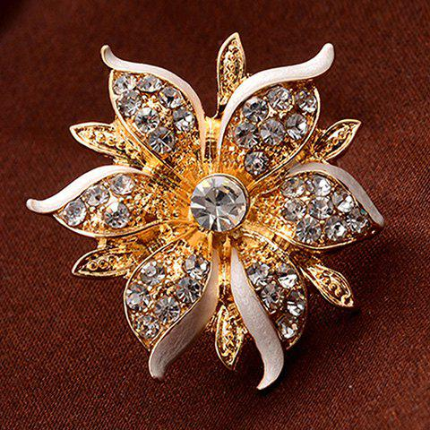 Chic Rhinestone Flower Shape Women's Ring