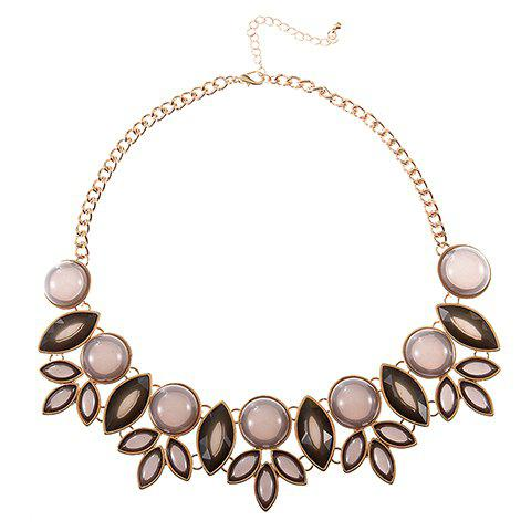 Hollow Out Leaf Fake Collar Necklace