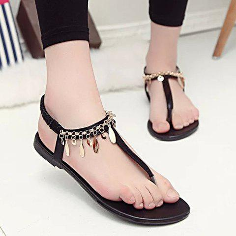 Leisure Flat Heel and Metal Design Women's Sandals