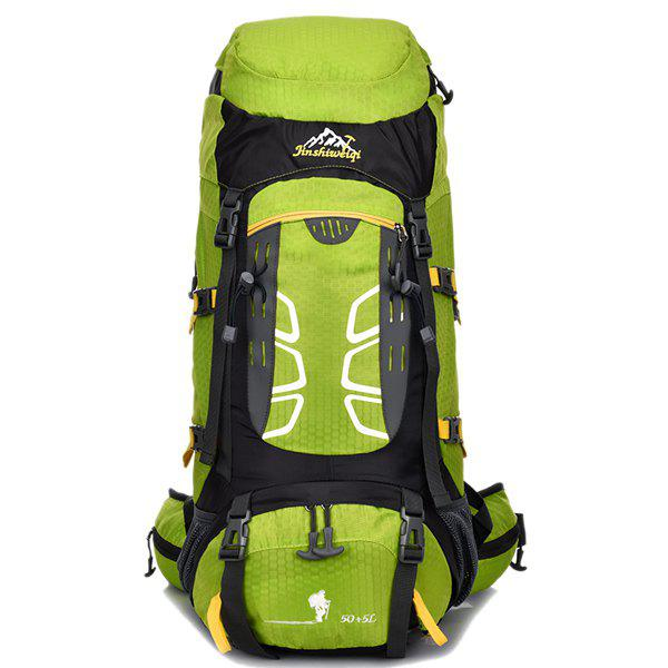High Quality 55L Large Capacity Travel Hiking Backpack Waterproof Outdoor Climbing Bag - CELADON