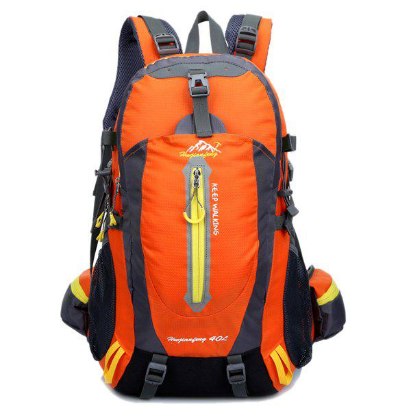 High Quality Multifunctional Travel Hiking Backpack Waterproof Outdoor Climbing Bag - ORANGEPINK