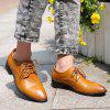 Trendy Lace-Up et Metal Design Hommes d  'Formal Shoes - Brun 43