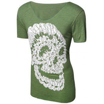 Casual Pullover Skull Printed Men's T-Shirt