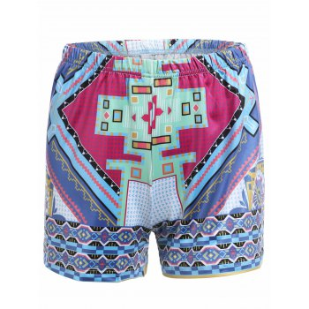 Stylish Women's Tribal Print High Waist Shorts