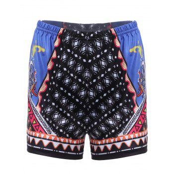 Chic Geometrical Print Beach Shorts For Women