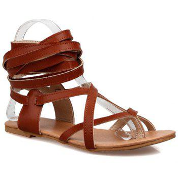 Casual Solid Colour and Cross Straps Design Women's Sandals