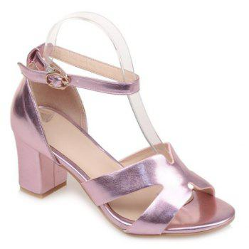 Middle Heel Ankle Strap Sandals