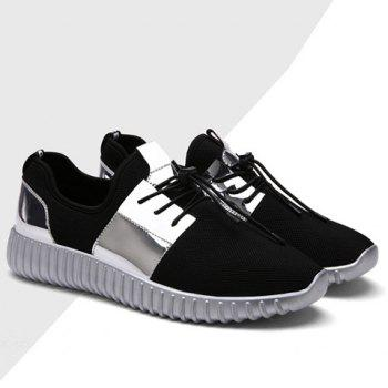 Trendy Colour Block and Lace-Up Design Men's Athletic Shoes - 40 40