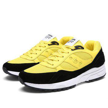Trendy Breathable and Color Block Design Men's Athletic Shoes - 39 39