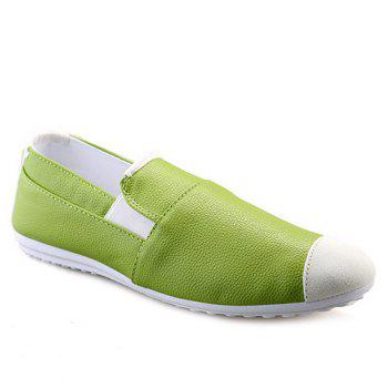 Stylish Colour Block and Elastic Design Men's Casual Shoes
