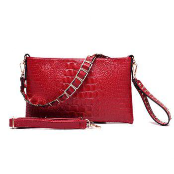 Casual Embossing and Rivets Design Women's Clutch Bag - RED RED
