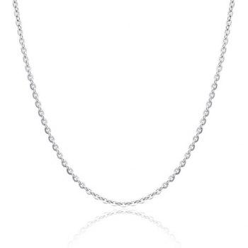 Silver Link Chain Necklace For Women
