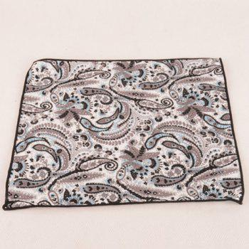 Un motif Set Color Fashion Café Paisley Tie Handkercheif et Bow Tie - café