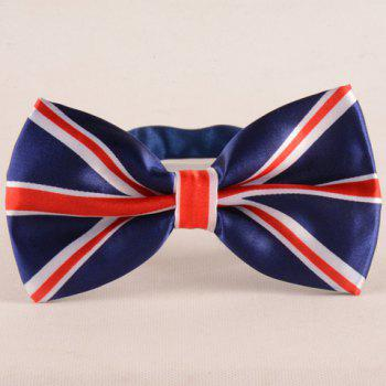 Stylish Union Flag Pattern Men's Deep Blue Bow Tie
