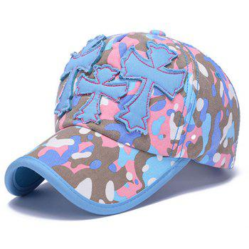 Chic Crosses Shape Embellished Camouflage Pattern Women's Baseball Cap