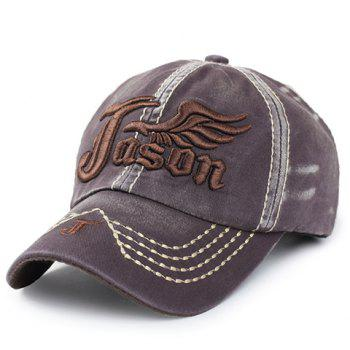 Stylish Letter and Wing Embroidery Men's Baseball Cap