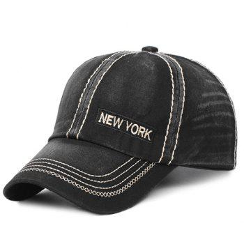 Stylish Letter Embroidery and Sewing Thread Embellished Men's Baseball Cap