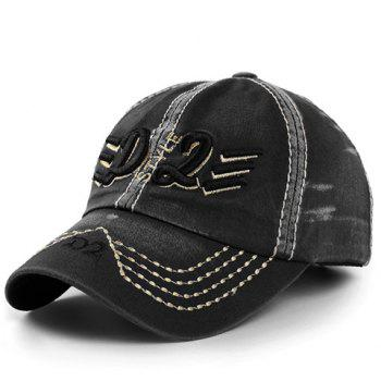 Stylish Letter and Short Stripe Embroidery Men's Baseball Cap