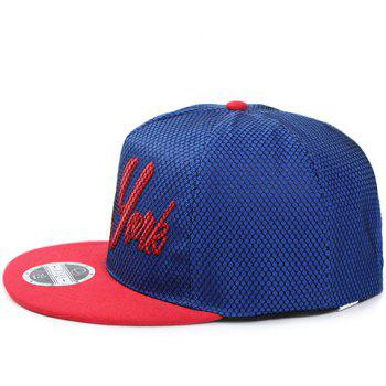 Stylish Black Net and Letter Embroidery Embellished Men's Baseball Cap - SAPPHIRE BLUE