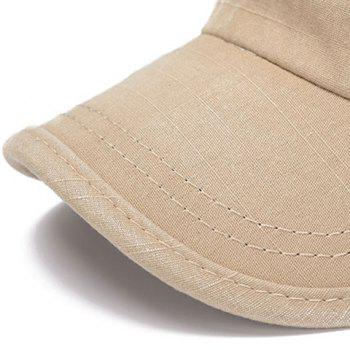 Stylish Letters Embroidery Flat Top Men's Military Hat - SAGE GREEN