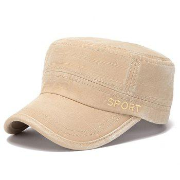 Stylish Letters Embroidery Flat Top Men's Military Hat