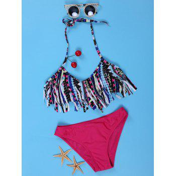 Trendy Fringed Halter Bikini Suit For Women