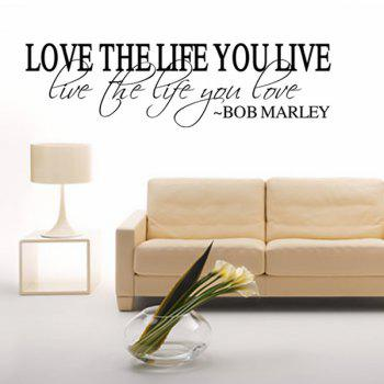 Chic Love Life Pattern Plane Wall Sticker For Bedroom Livingroom Decoration