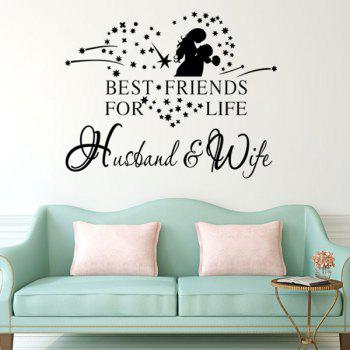 Chic Lovers Pattern Plane Wall Sticker For Bedroom Livingroom Decoration