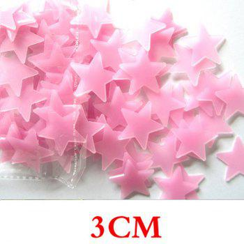 100PCS Fashion Luminous Shinning Star Pattern 3D Wall Sticker For Bedroom Ceiling Decoration
