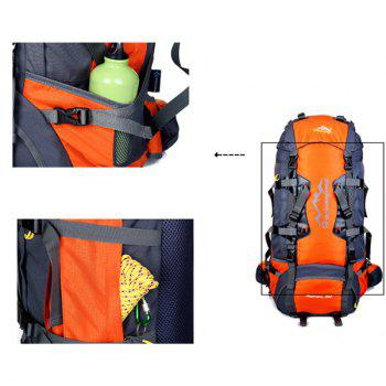High Quality Multifunctional Waterproof Outdoor Travel Hiking Suspended Back Frame Climbing Bag - ORANGEPINK