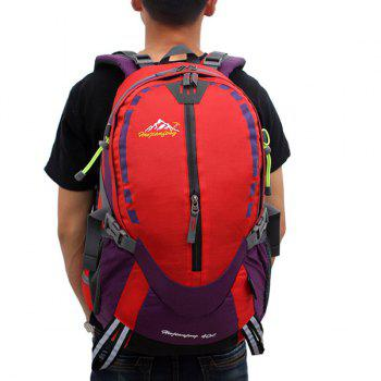 Large Capacity Multifunctional Waterproof Suspended Back Frame Color Block Outdoor Climbing Bag - RED RED