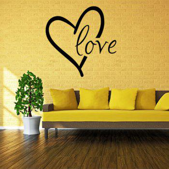 Chic Heart Love Pattern Plane Wall Sticker For Bedroom Livingroom Decoration