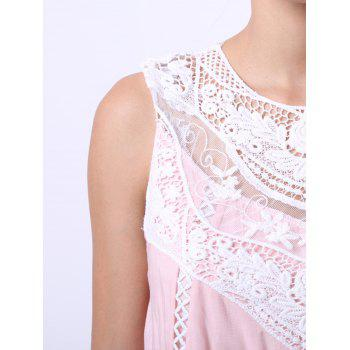 Refreshing Sleeveless Cut Out Peach Dress For Women - SHALLOW PINK S
