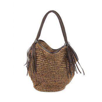 Leisure Fringe and Solid Color Design Shoulder Bag For Women