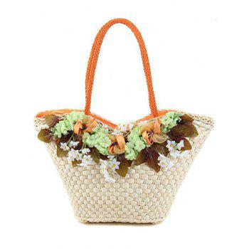 Sweet Flowers and Leaves Design Shoulder Bag For Women
