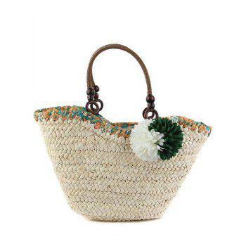 Bohemian Flowers and Weaving Design Tote Bag For Women