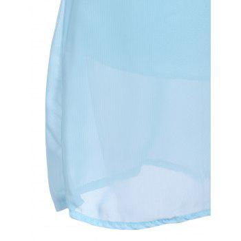 Bowknot Chiffon Mini Tank Dress - AZURE S