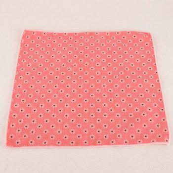 One Set Fashion Daisy Jacquard Watermelon Red Tie Handkercheif and Bow Tie - WATERMELON RED