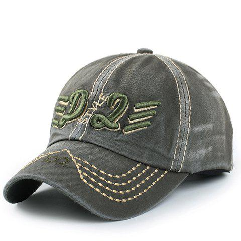 Stylish Letter and Short Stripe Embroidery Men's Baseball Cap - ARMY GREEN