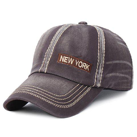 Stylish Letter Embroidery and Sewing Thread Embellished Men's Baseball Cap -  COFFEE