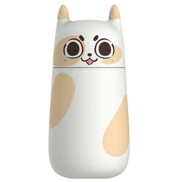 High Quality Portable Cartoon Animals Kitten Tail Design Student Glass Water Bottle - WHITE