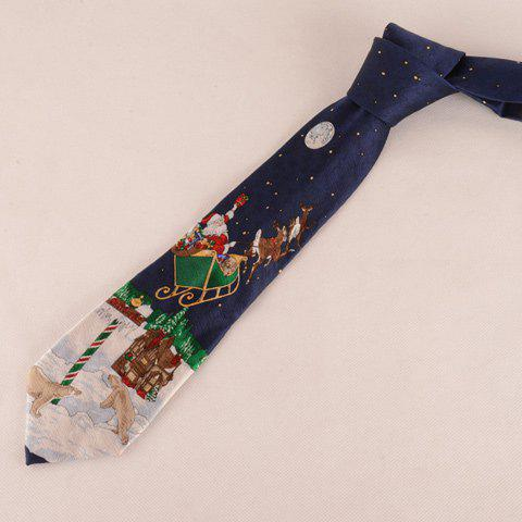 Stylish Christmas Element and White Bear Pattern Boys' Tie
