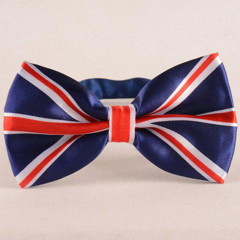 Stylish Union Flag Pattern Men's Deep Blue Bow Tie - DEEP BLUE