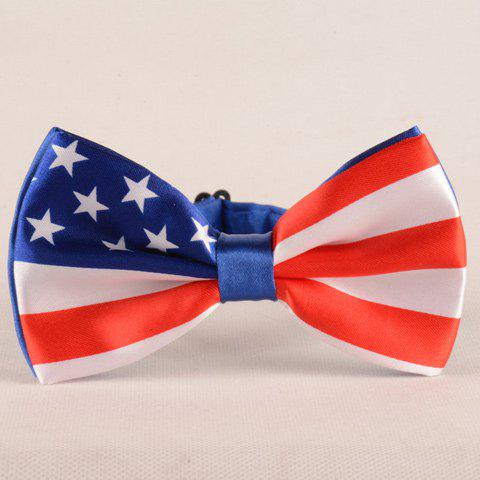 Stylish Stars and Stripes Pattern Men's Bow Tie - BLUE