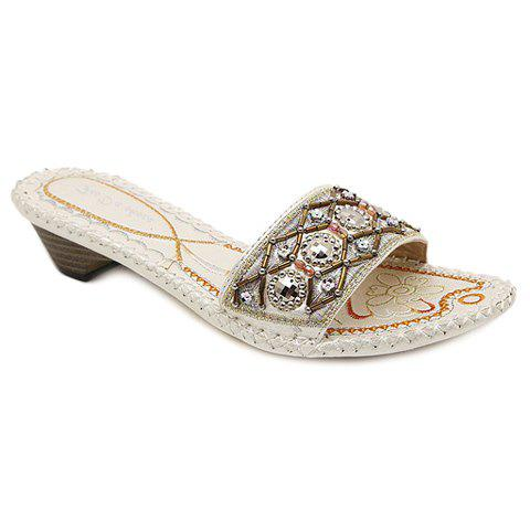Bohemian Slip-On and Beading Design Women's Slippers