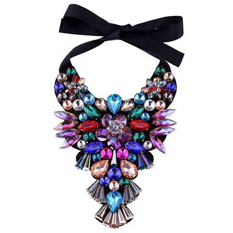 Charming Faux Amethyst Bowknot Water Drop Necklace For Women