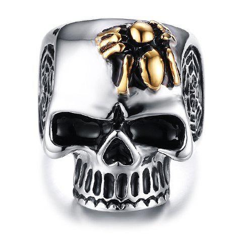 Vintage Alloy Skull Spider Shape Ring For Men - GOLDEN ONE-SIZE